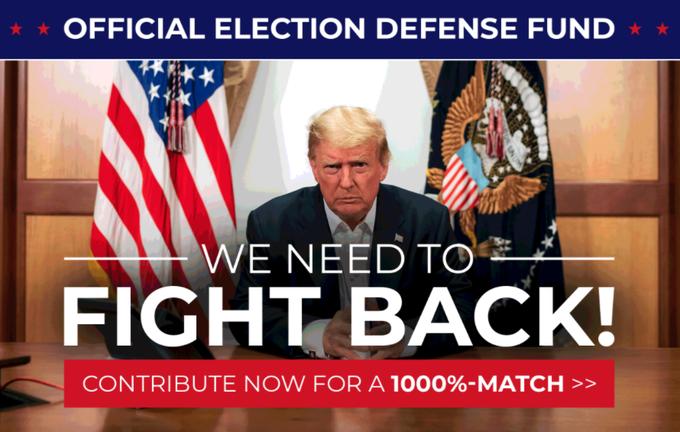 特朗普团队网站截图