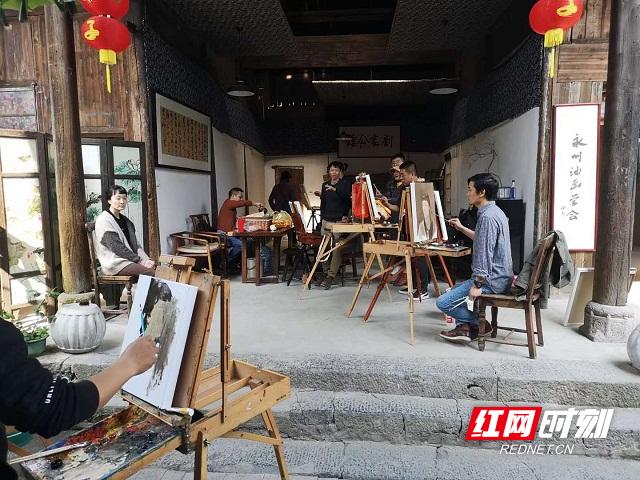 全国青年写实油画名家永州采风写生团走进零陵
