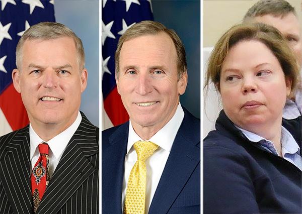 从左至右分别为安德森、克南、斯图尔特 图片来源:美国国防部及其社交媒体