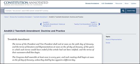 图源:美国宪法全文查阅网站