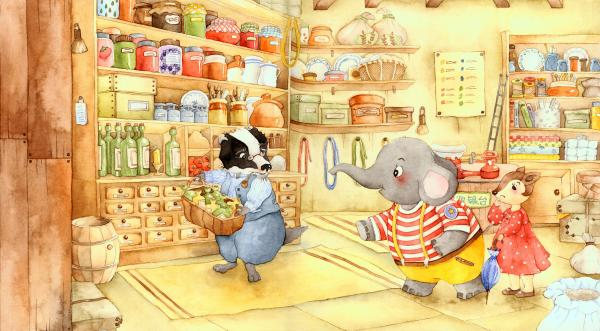 童书FM|小灰象真幸运