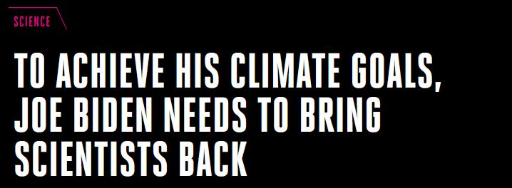 美国theverge网站12日报道:为实现气候现在的,拜登得把科学家叫回来