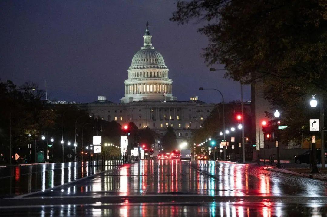 ▲这是11月11日在美国华盛顿拍摄的美国国会大厦。(新华社)