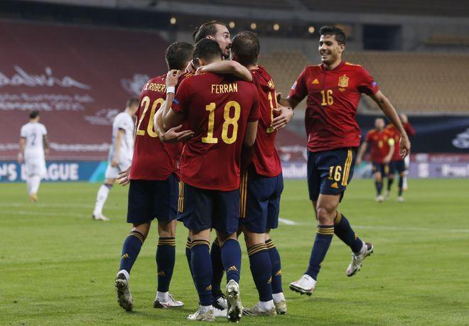 欧国联-费兰托雷斯帽子戏法 西班牙6-0德国进四强