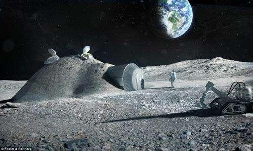 人类月球基地效果图(资料图片)