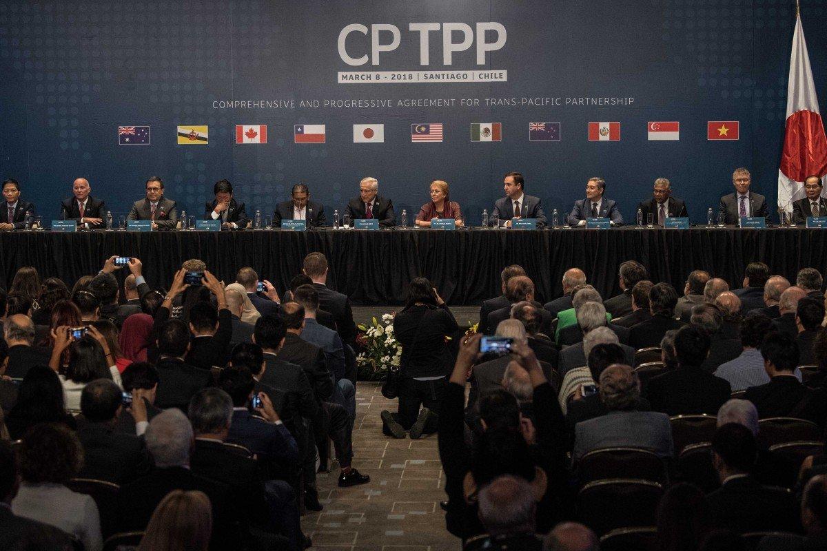2018年3月8日,11国在智利共同签定CPTPP 图自新华社