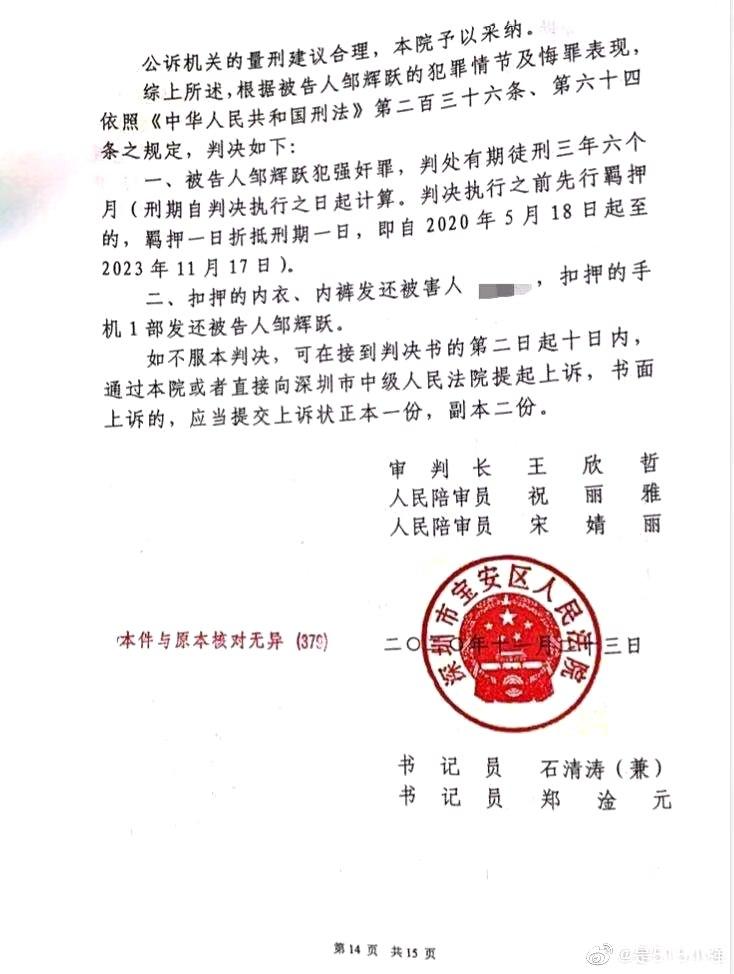 女子入职聚会疑遭同事强奸案宣判:嫌犯因强奸罪获刑