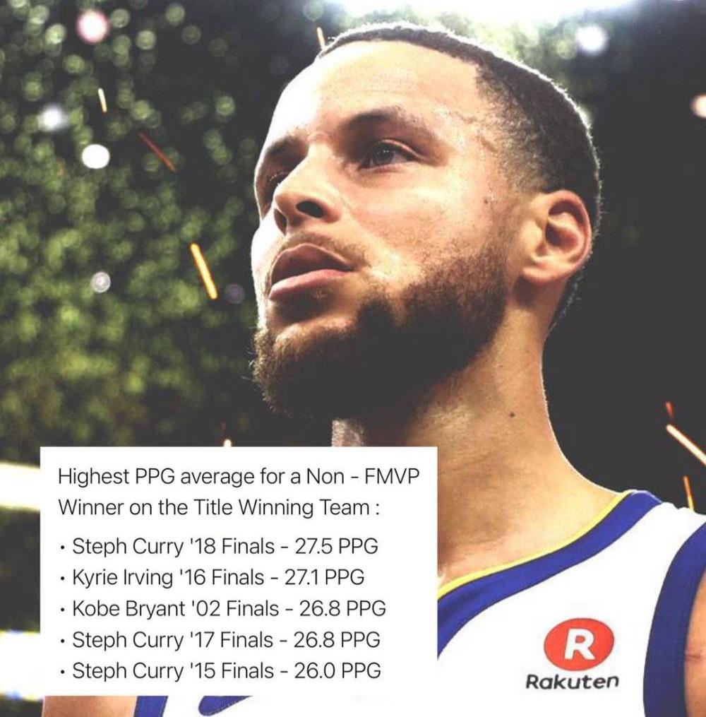 多次與FMVP擦肩而過!美媒評出總冠軍賽未獲MVP前五,柯瑞一人獨佔三席!-籃球圈