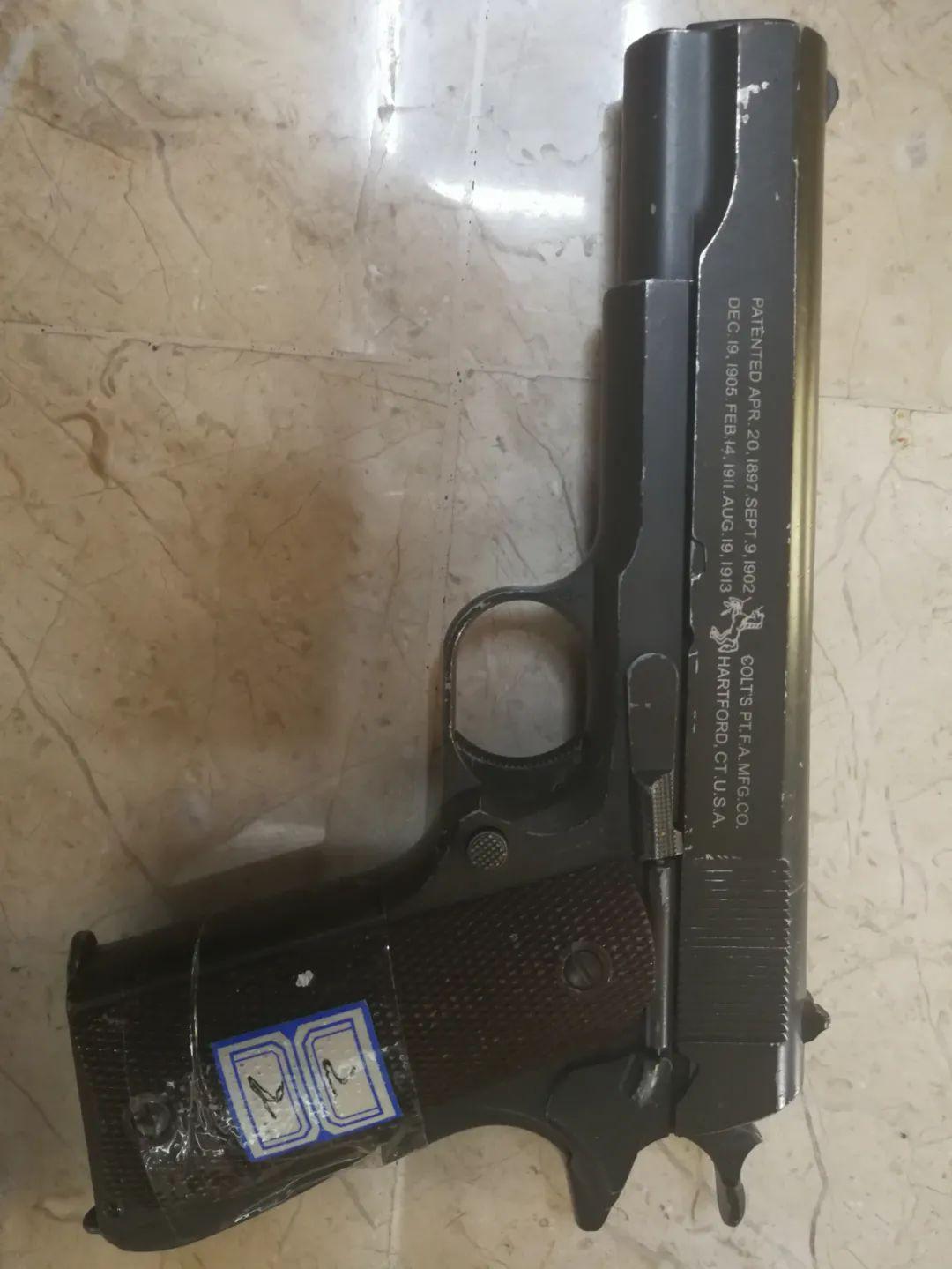 查获的涉案枪支。受访者供图