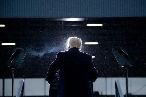 ▲10月27日,美国总统特朗普在密休根州开展竞选运动。新华社/法新