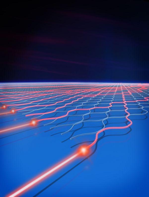 这是光量子干涉暗示图。(新华社)