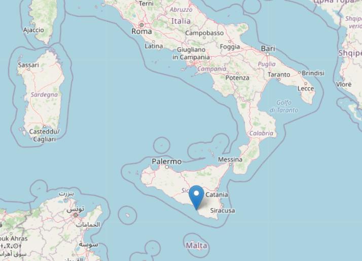 意大利西西里海岸发生4.6级地震 震源深度为30公里