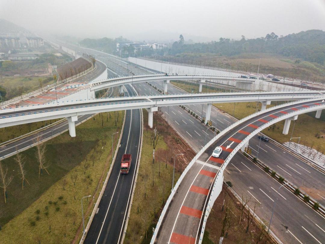 重庆高新区快速路一纵线青龙咀至农马立交段正式通车