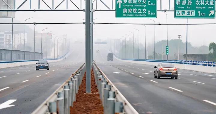 快速路一纵线青龙咀至农马立交段正式通车 车程缩短至10分钟