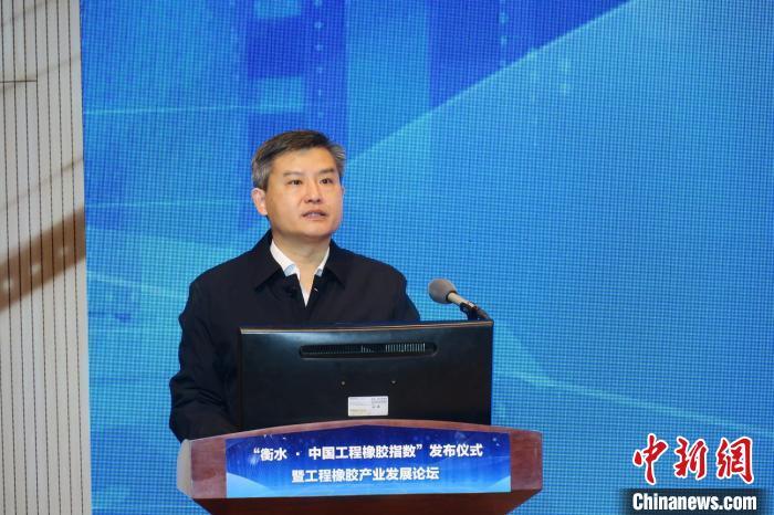 衡水高新区党工委书记王建明致辞。 王鹏 摄