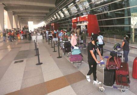 印度机场 图自印媒