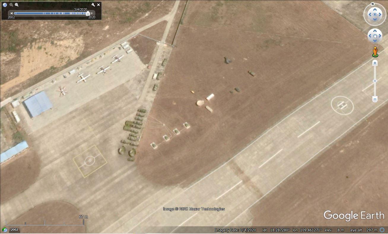 三亚某机场安放的大型无人机 图源:谷歌地球