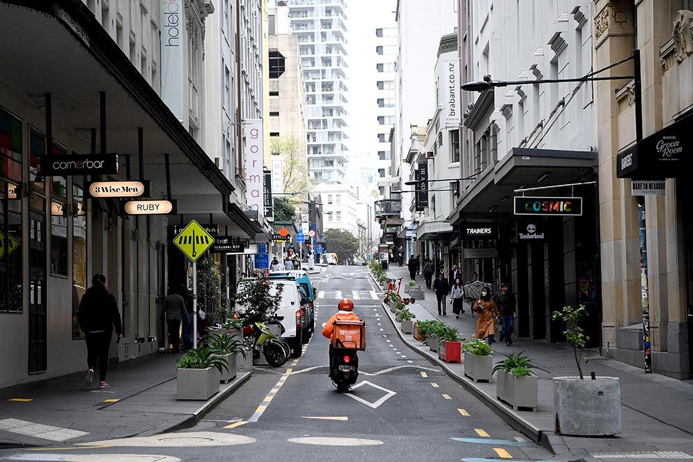 当地时间2020年9月24日,新西兰奥克兰的街头。 人民视觉 资料图