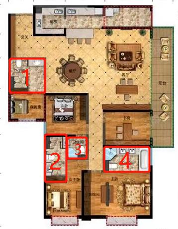 一套房4个卫生间?南北通透板房变成连廊房? 买房前一定要看这个图