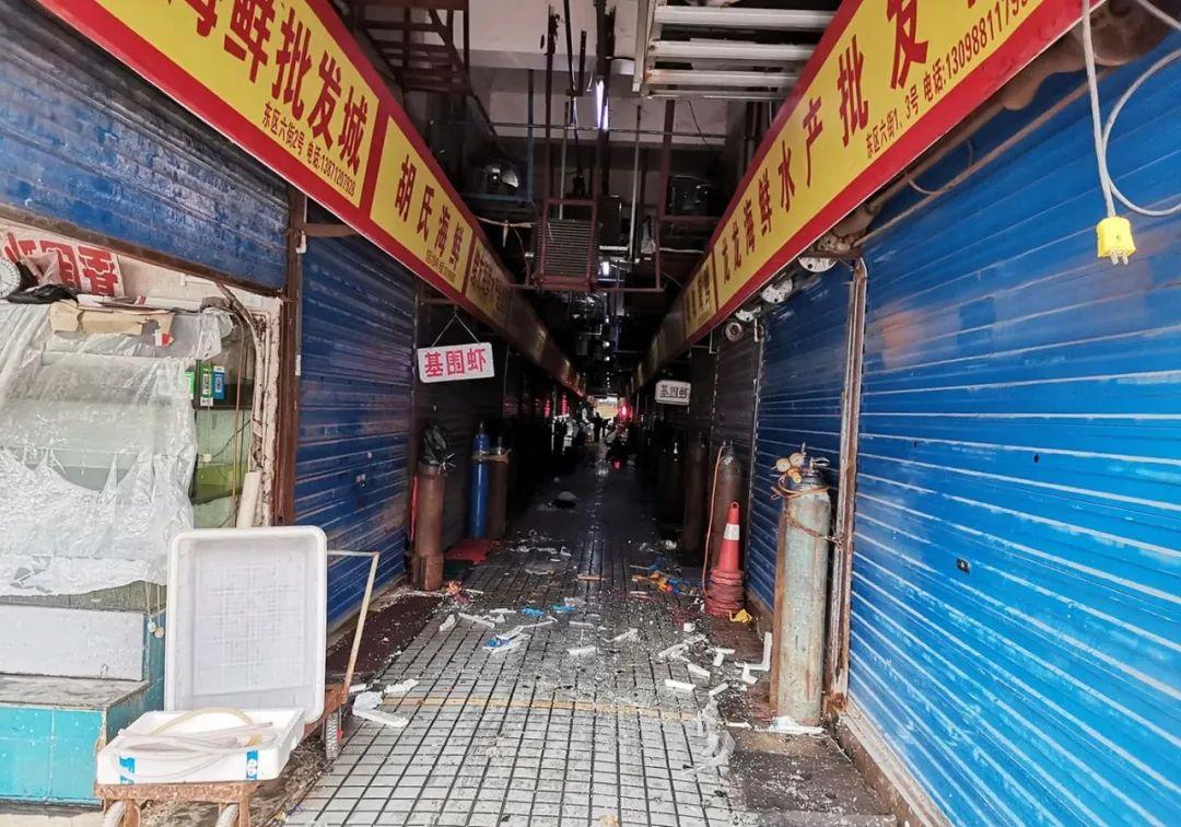 武汉华南海鲜市场(图片来源:每经记者 张明双 摄)