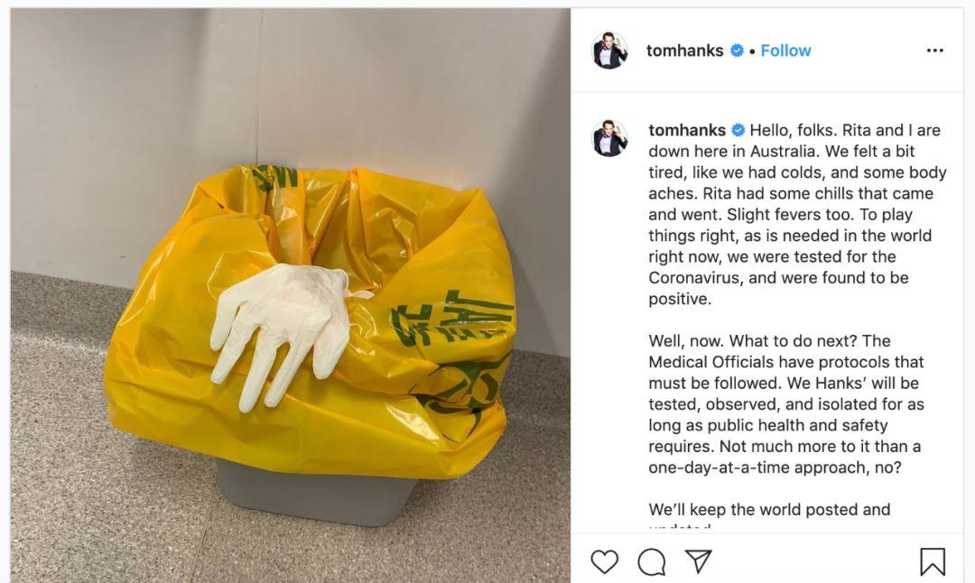 汤姆·汉克斯ins截图