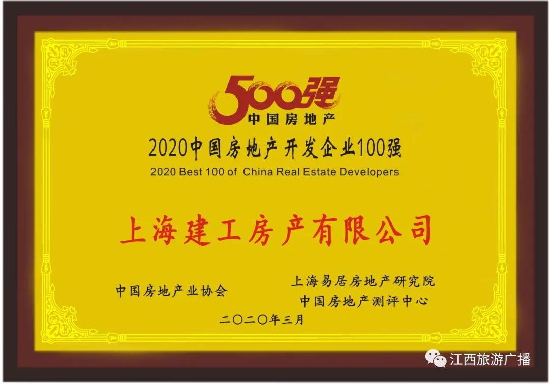 """楼市快讯丨上海建工房产荣获""""中国房地产开发企业500强劲""""第75名"""