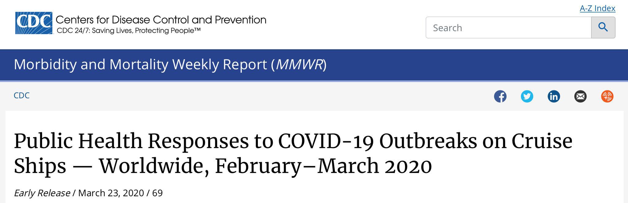 美国CDC官网截图