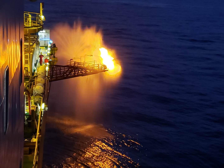 我国可燃冰第二轮试采在南海神狐海域进行。自然资源部中国地质调查局供图