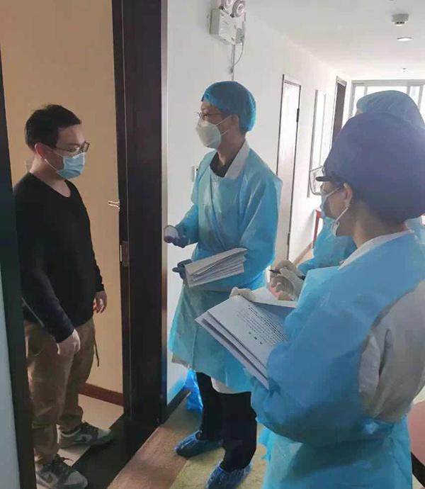 41人入住江南造船专门用于安置隔离的房间进行居家观察。