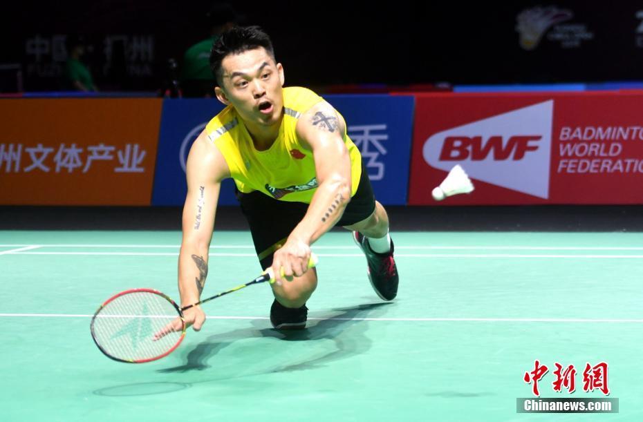 原料图:林丹在比赛中。中新社记者 吕明 摄