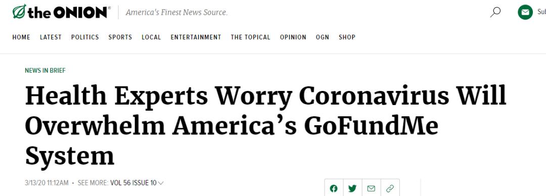 美國疫情有多魔幻:假新聞網站編的