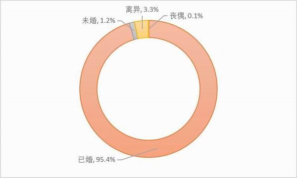 图6:样本卡车司机的婚姻状况。资料来源:2020中国卡车司机调查