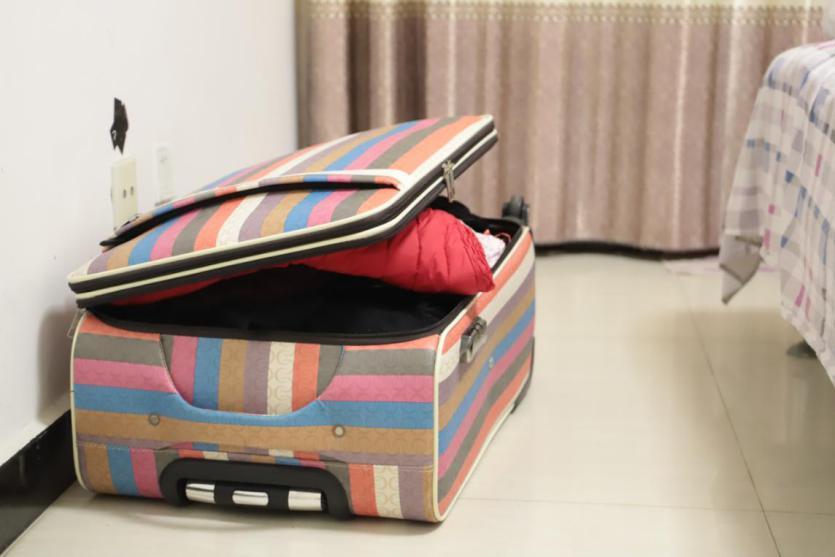准备带走的行李箱