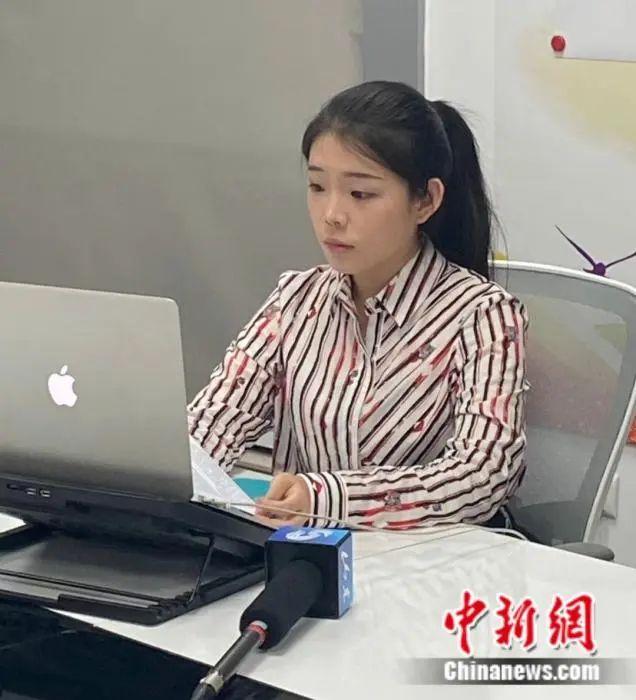图为王琇琨在钻研会上直播连线 受访者供图