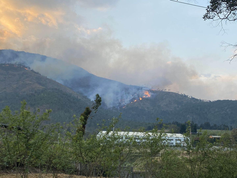 1日18时许,泸山出现复燃。