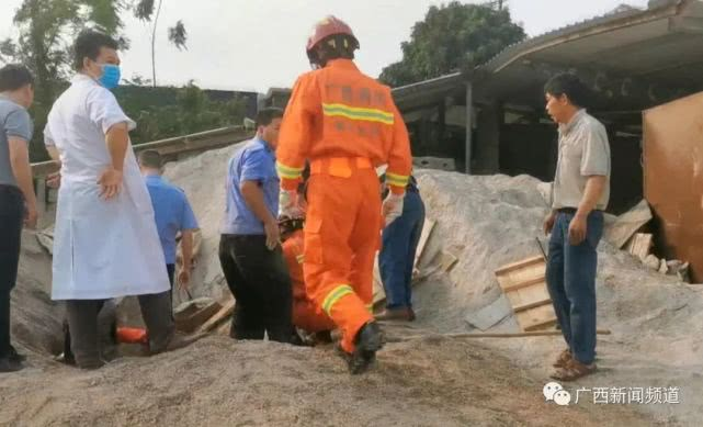 广西崇左一砖厂沙石塌方埋压4岁儿童,半小时后被救出已遇难