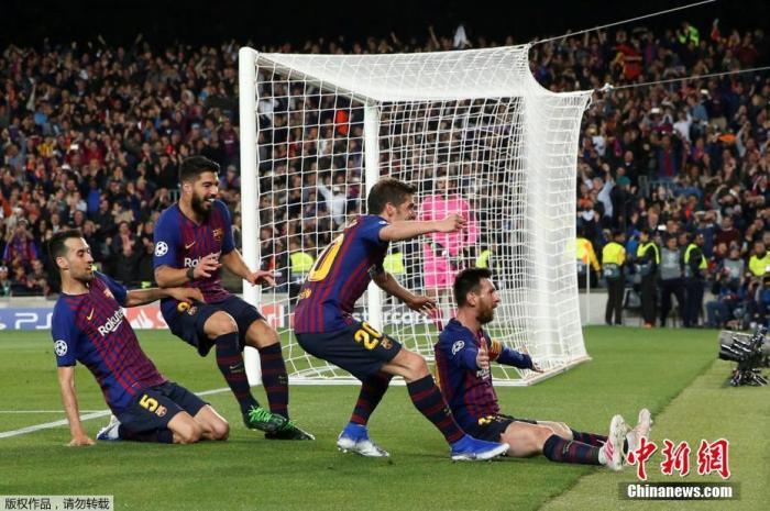 资料图:2019年欧冠半决赛首回合较量中,巴塞罗那坐镇主场诺坎普以3:0击败利物浦。