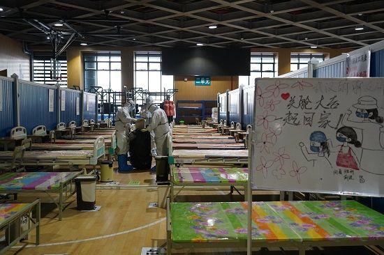 3月10日,末了一个息舱的武昌方舱医院。南都特派记者 吴泽嘉 摄