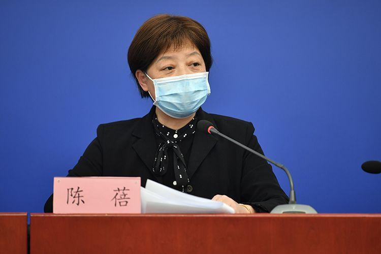 北京市当局副秘书长陈蓓回应记者挑问。