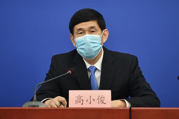 北京市卫生健康委消休说话人高幼俊回应记者挑问。