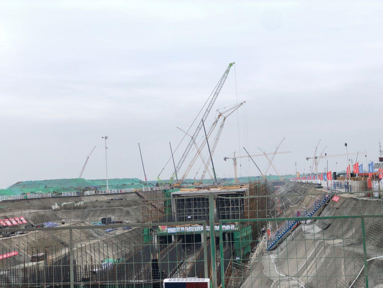 容东片区建设施工工地