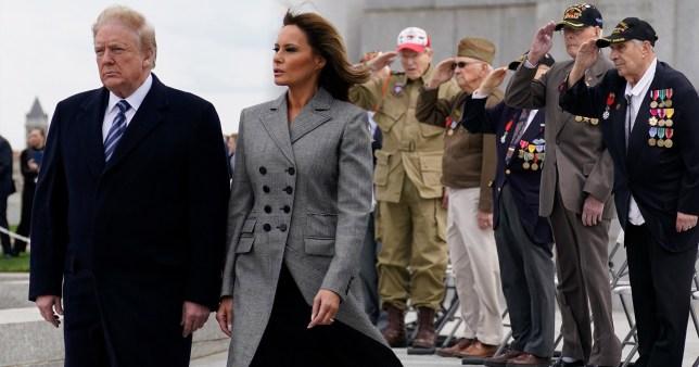 特朗普出席美国欧洲战场胜利75周年祝贺日运动