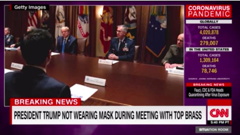特朗普在白宫会见高层军事官员