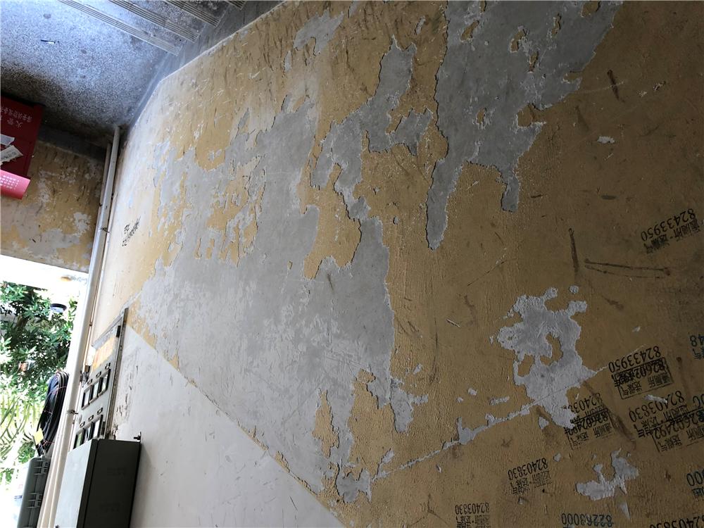 楼内破旧不堪的楼梯