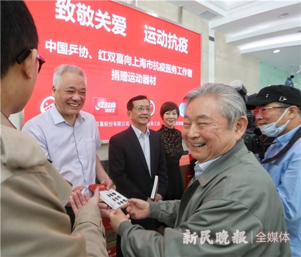 图说:徐寅生在现场激动不已 新民晚报记者 张龙 摄