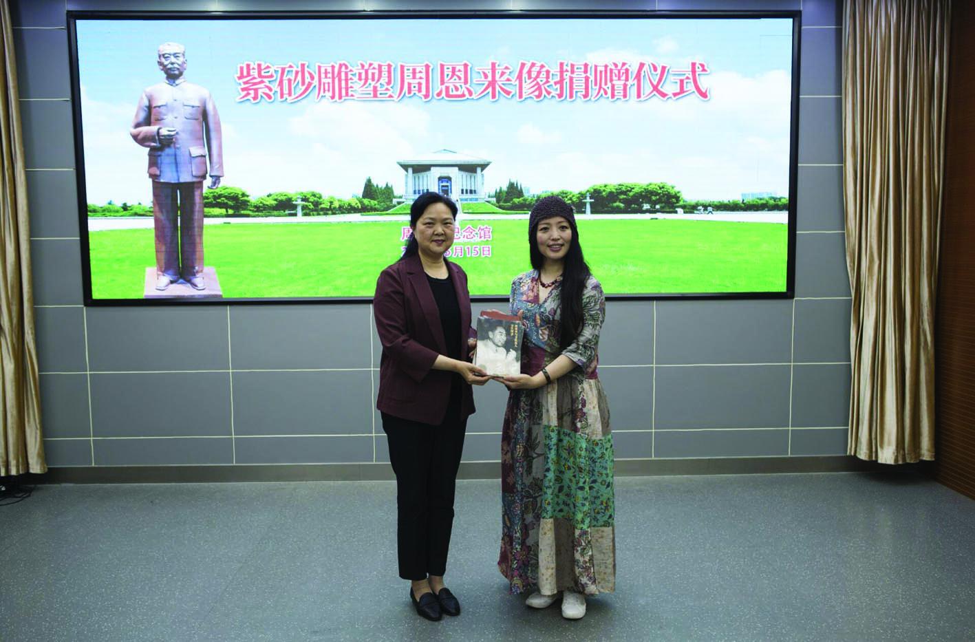 扬州女雕塑家作品《人民的总理》 获周恩来纪念馆永久收藏