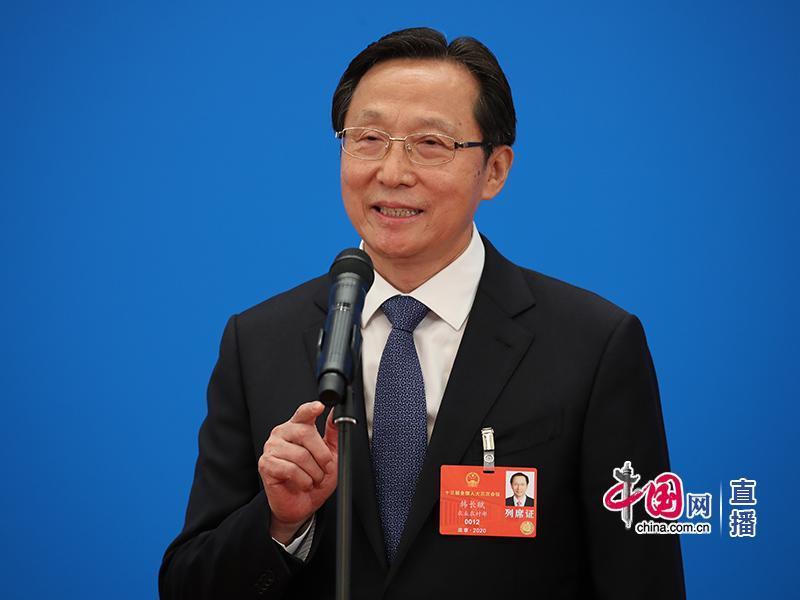 农业农村部部长韩长赋(中国网 杨佳 摄)