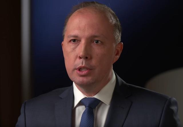 澳大利亚内务部长彼得·达顿 视频截图