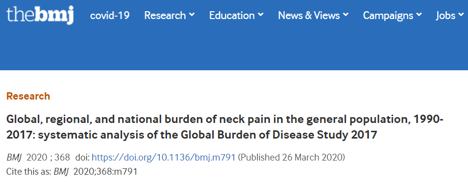 """全球""""肩頸負擔""""數據發布:2.8億人正在經歷「肩頸痛」"""