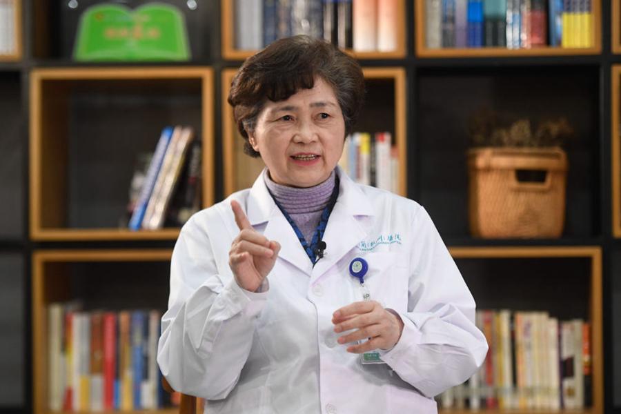 1月29日李兰娟院士在杭州接受记者采访 新华社记者黄宗治 摄